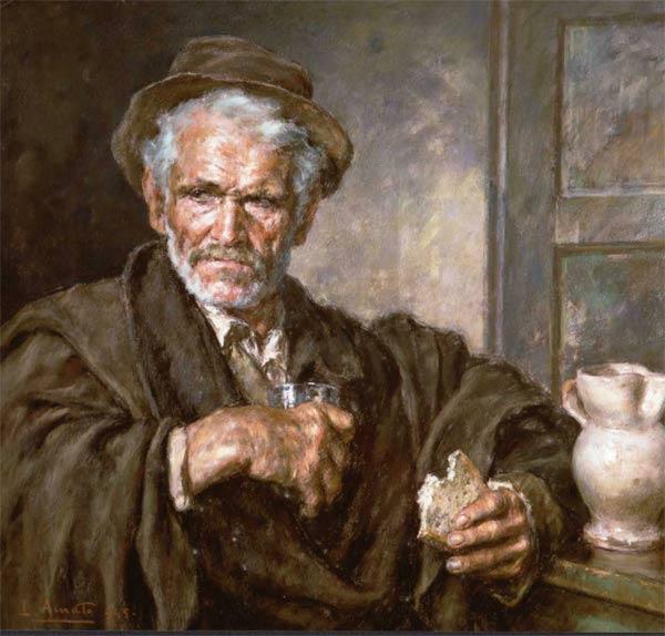 Luigi Amato (1898-1961) - pastello - Jennaro , pastore calabrese