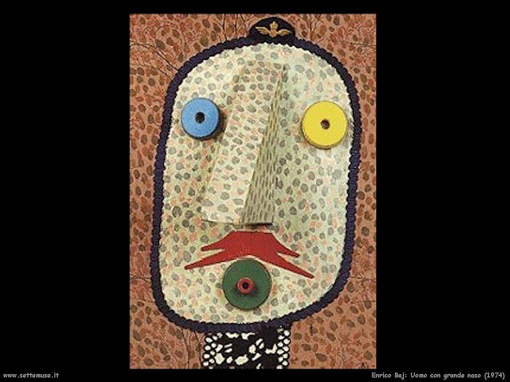 Enrico Baj, Uomo con grnde naso, 1974