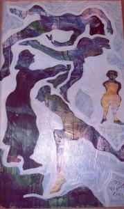 2000 Vento e figure femminili dipinto olio nov 2000